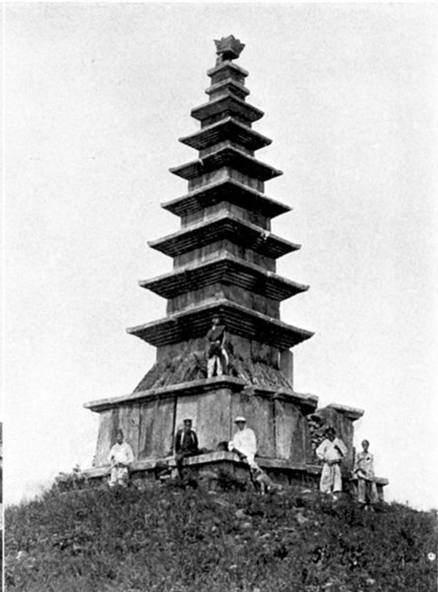 A Buddhist relic in the South.jpg; p.123 The passing of Korea (book)