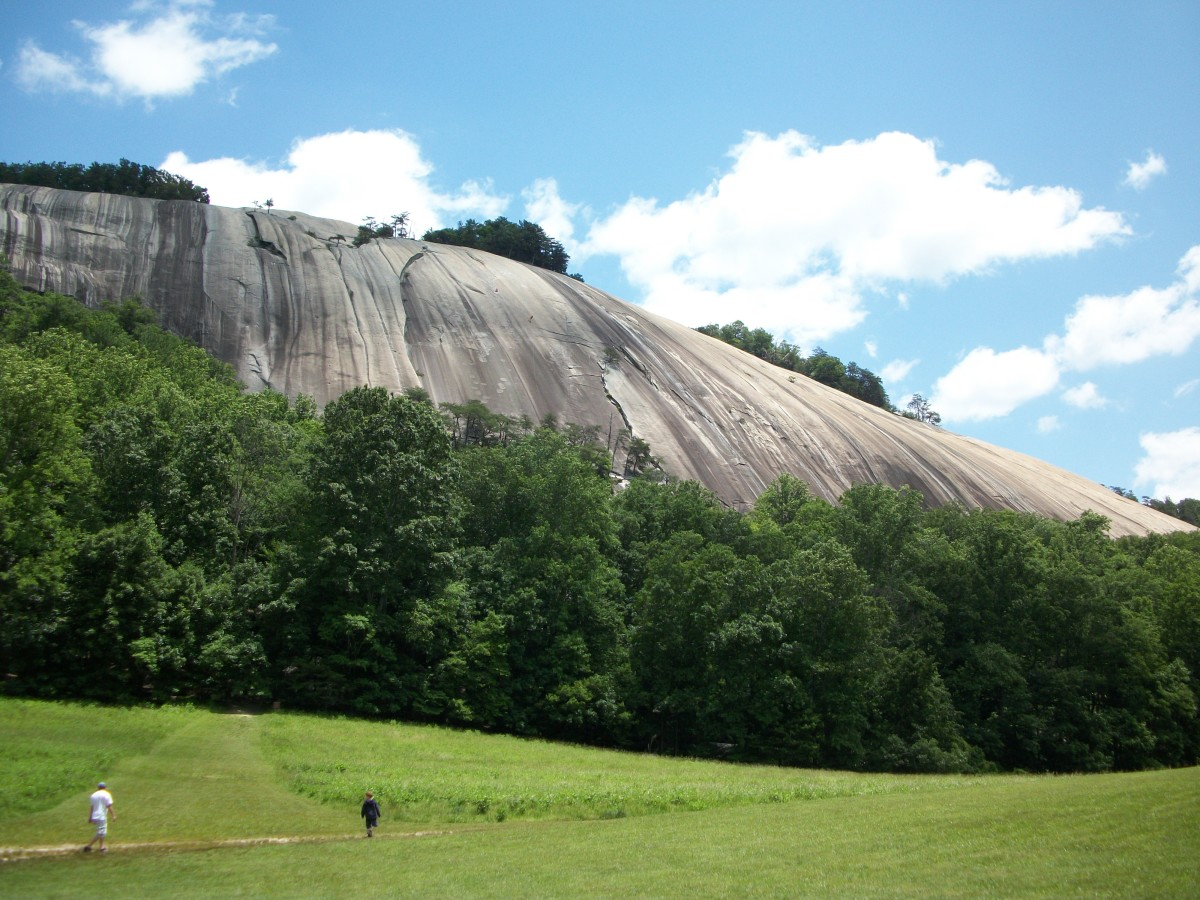 The Hutchinson Homestead is at the base here of Stone Mountain.