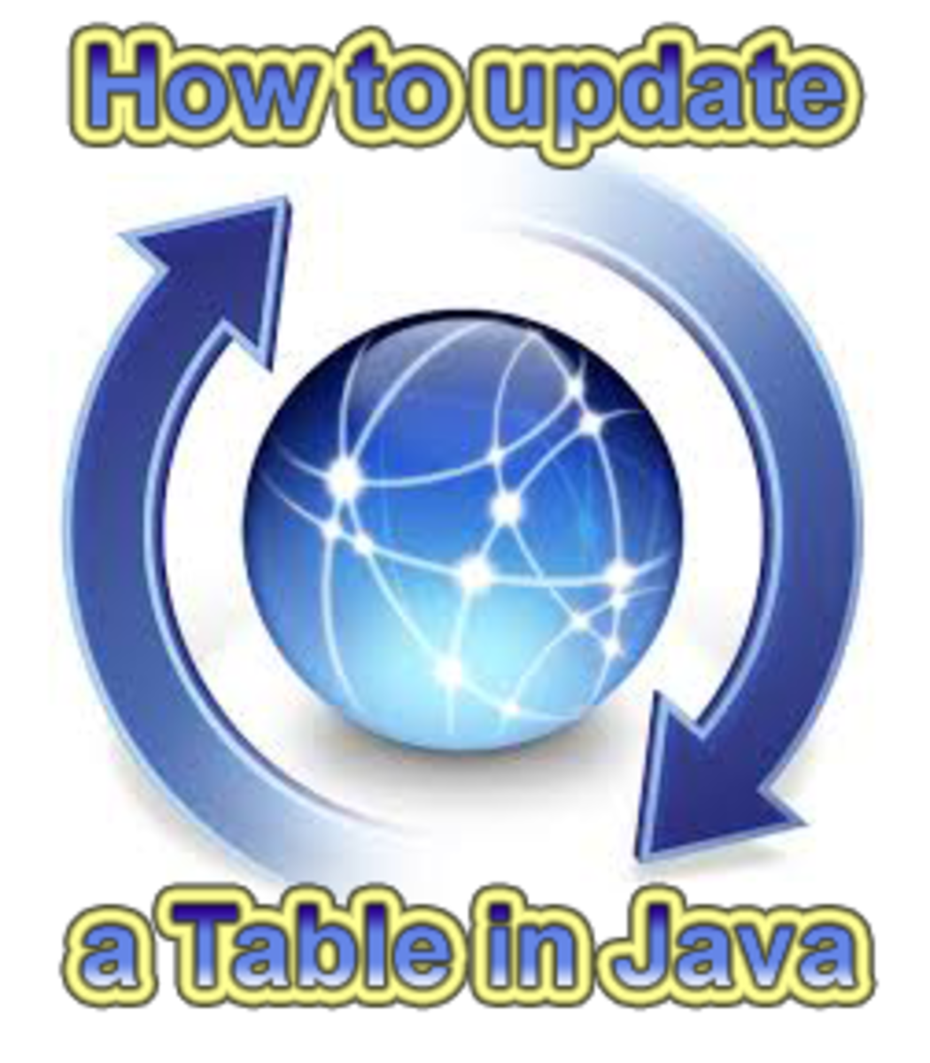 How to update a table in Java NetBeans