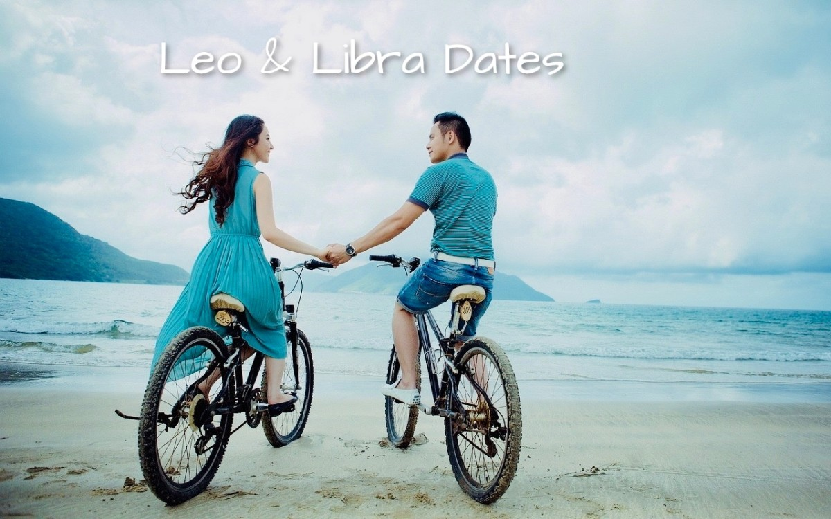 Perfect Leo & Libra dates: (1) bike rides outside in the sunshine followed by ice cream, (2) going out dancing and having a fun, spontaneous night, (3) heading into the rustic land for some stargazing, (4) a picnic, (5) trip to botanical gardens