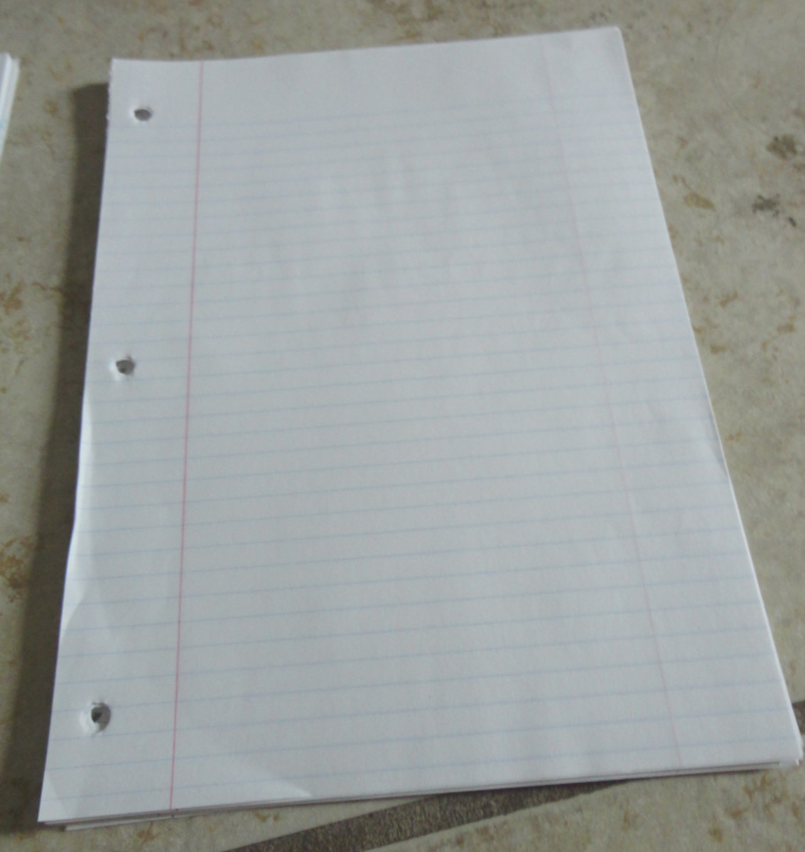 How to Organize your Surplus College-Ruled Notebook Papers