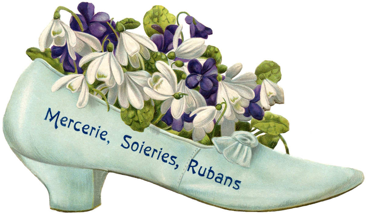 Friends will love the novelty of flowers in a shoe or a teapot.