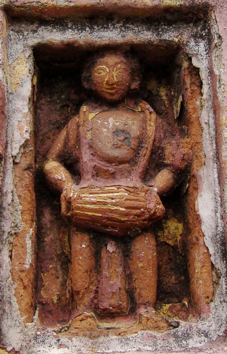 Terracotta figure  from Jora Shiva Temple at Ukhra Durgabaari