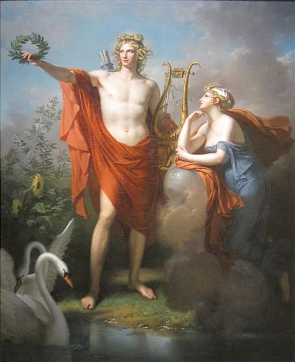 Apollo with Thalia the Muse