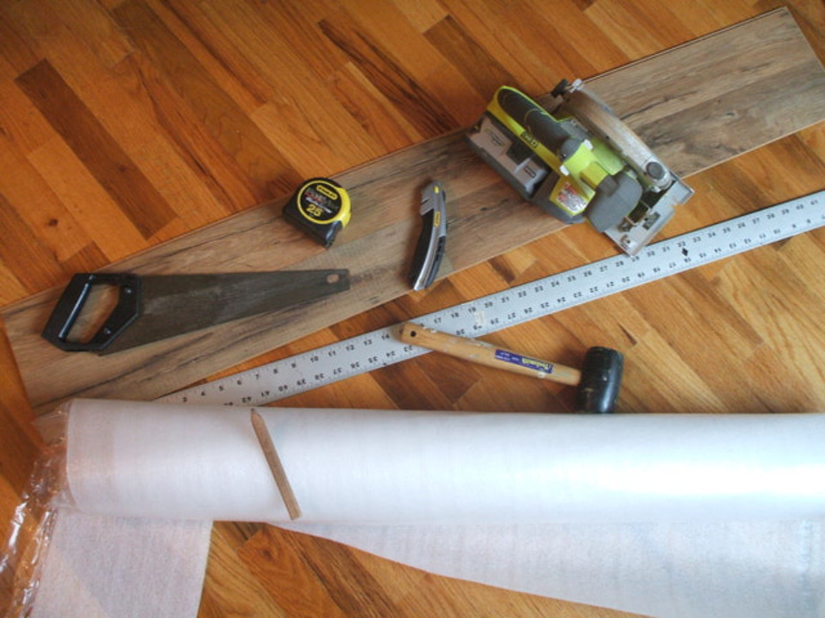Circular Saw, Hand Saw, Hammer, Tape Measure, Utility Knife, Straight Edge.