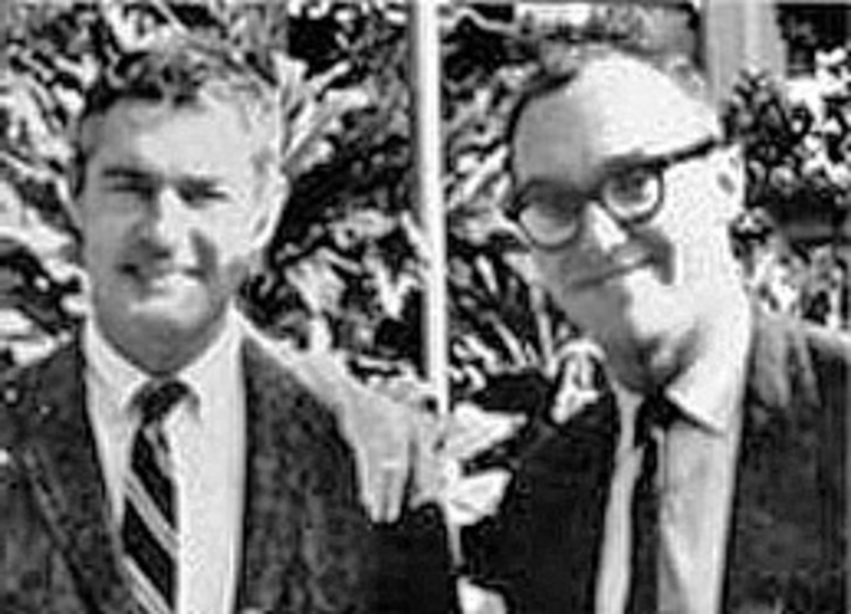 Timothy Leary and Richard Alpert -  Harvard Department of Psychology - 1960