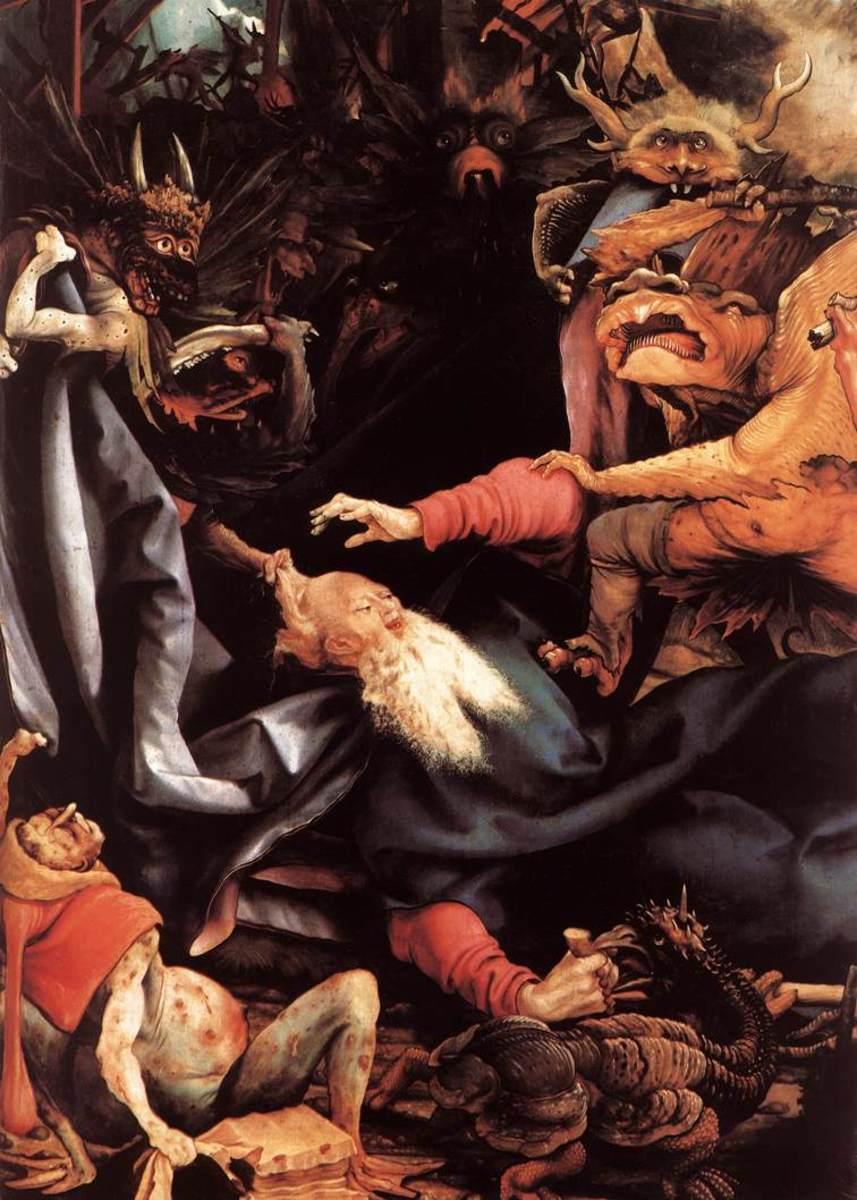 The Temptation of St. Anthony - Matthias Grünewald, 1515