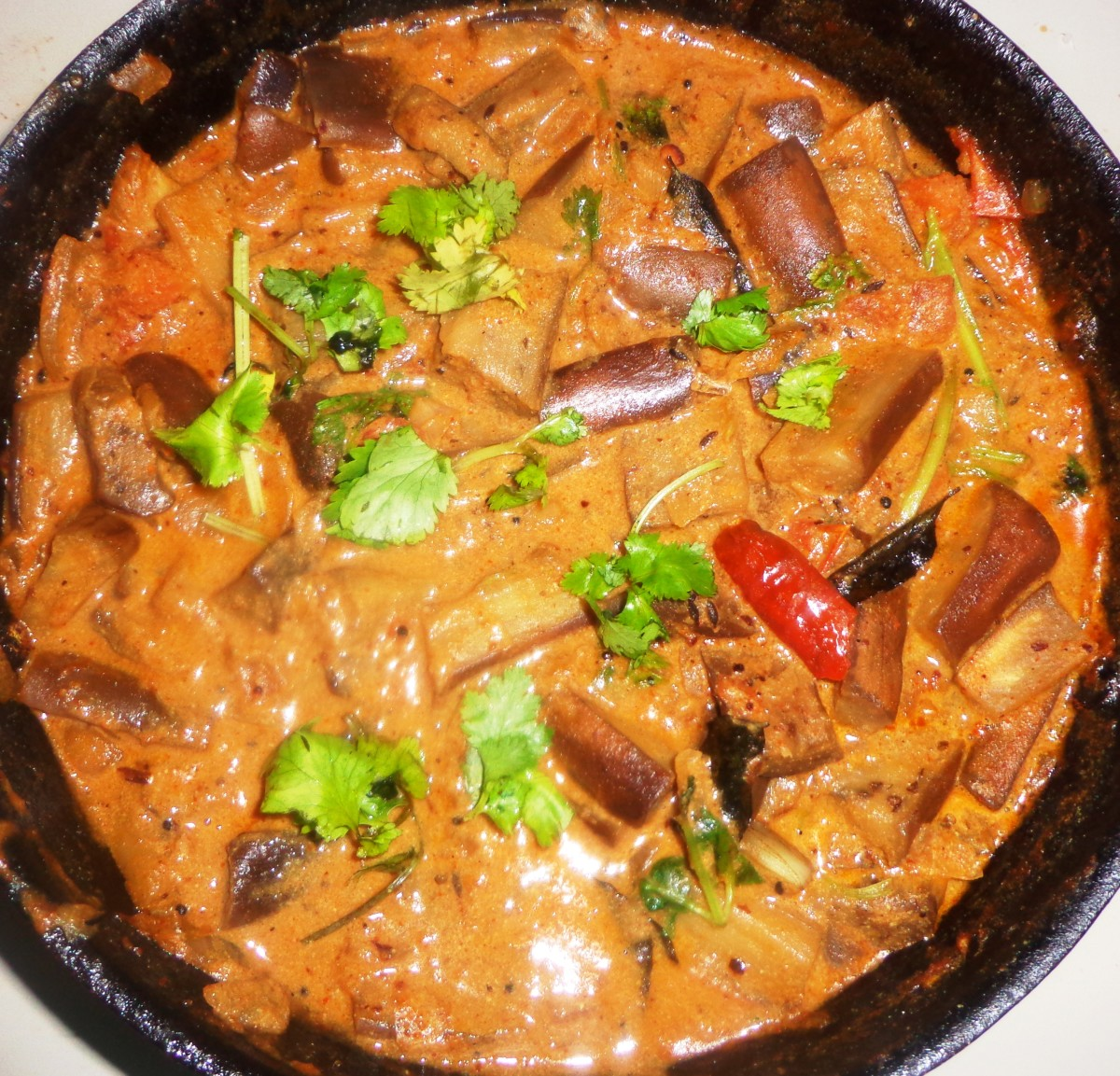 How to make Eggplant or Brinjal Peanut Curry or ...