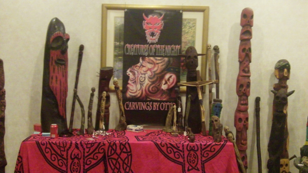 Otto Long's display at the 17th Annual NC Tattoo Convention. Click picture for full size.