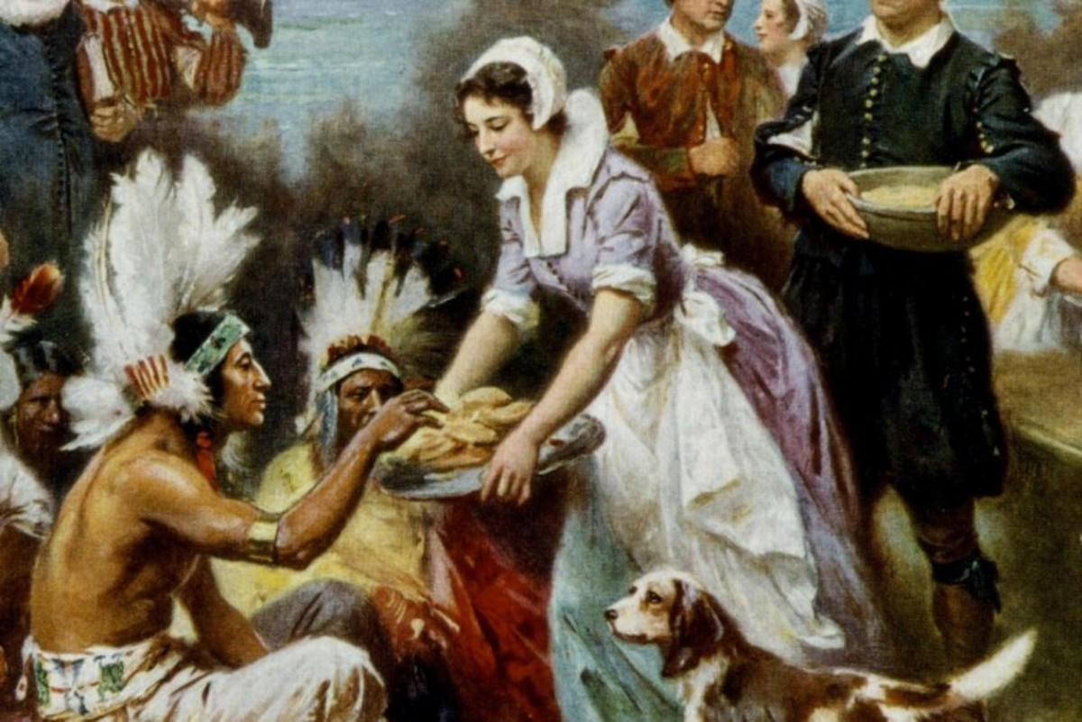 The first Thanksgiving celebration in 1621