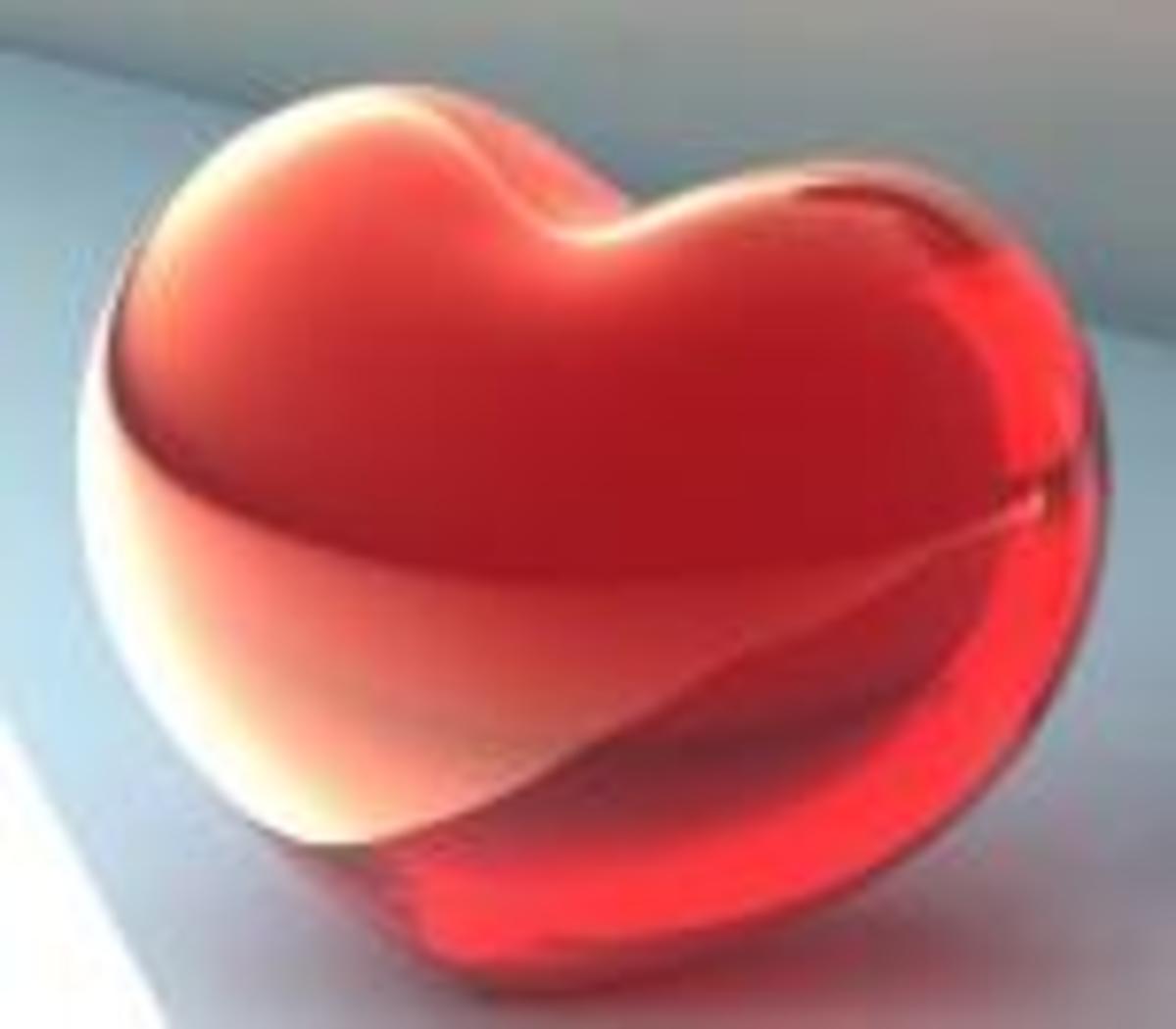 A shiny heart symbol. Pure love?