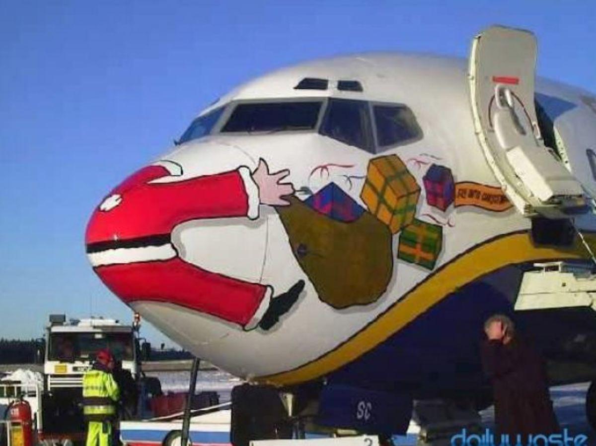 Santa and Plane