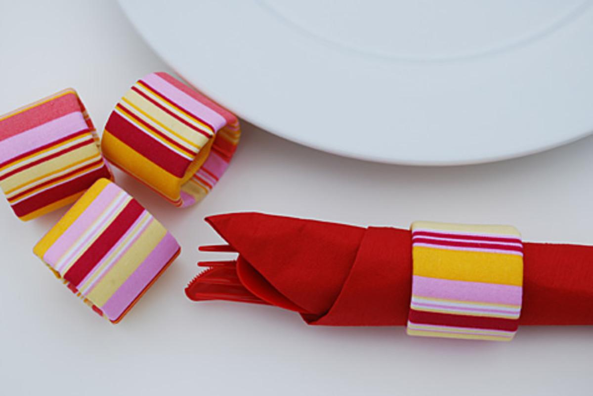 Fabric on paper rolls