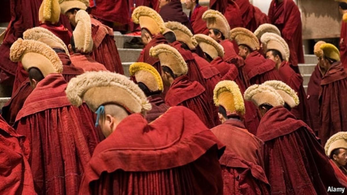Peaceful Tibetan Religious practices.