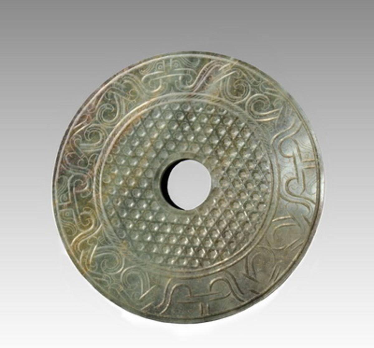 PREHISTORIC CHINESE JADE DISC
