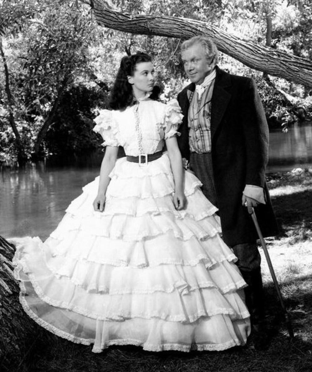 Vivien Leigh with Thomas Mitchell
