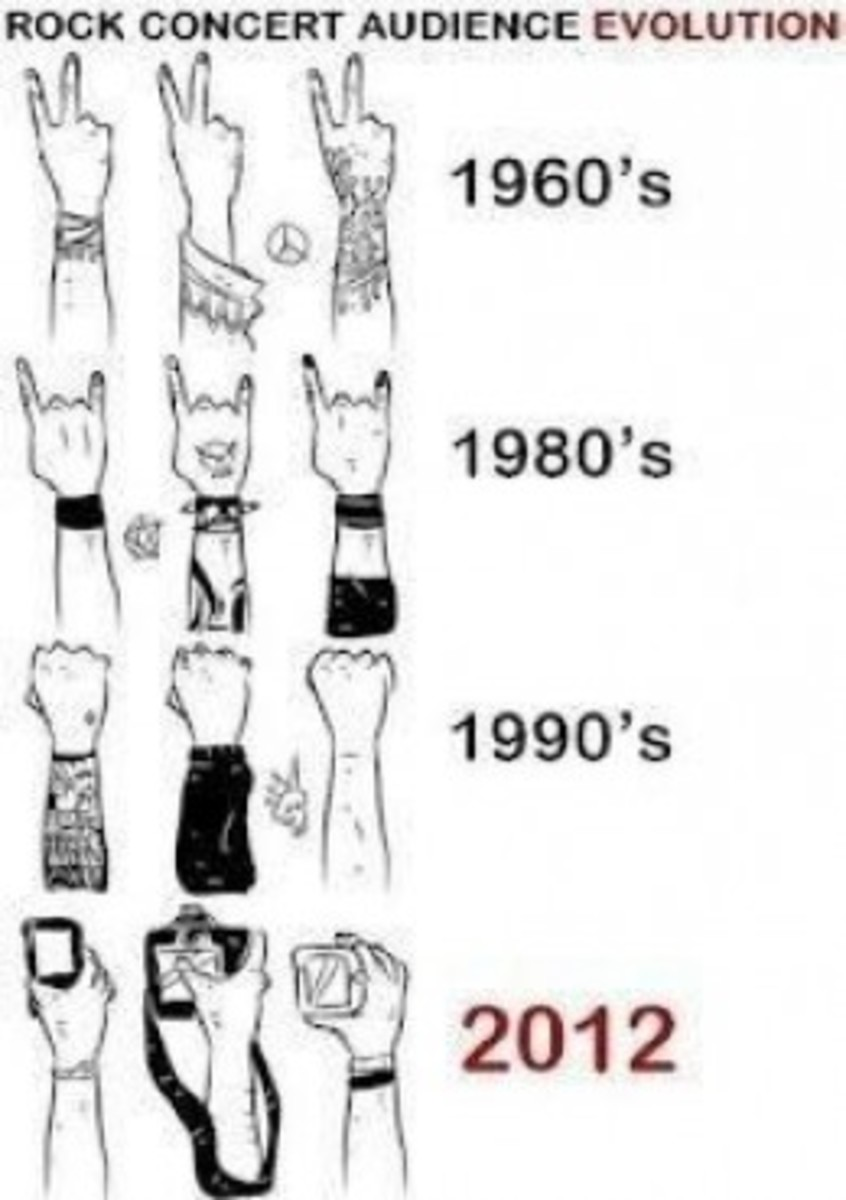 Concert audience through the decades