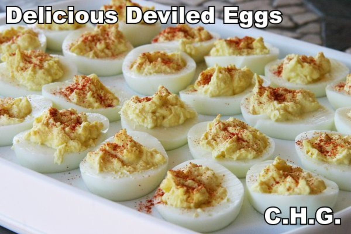 Here is one of the best recipes for deviled eggs that you will ever eat. Try them and see what you think.