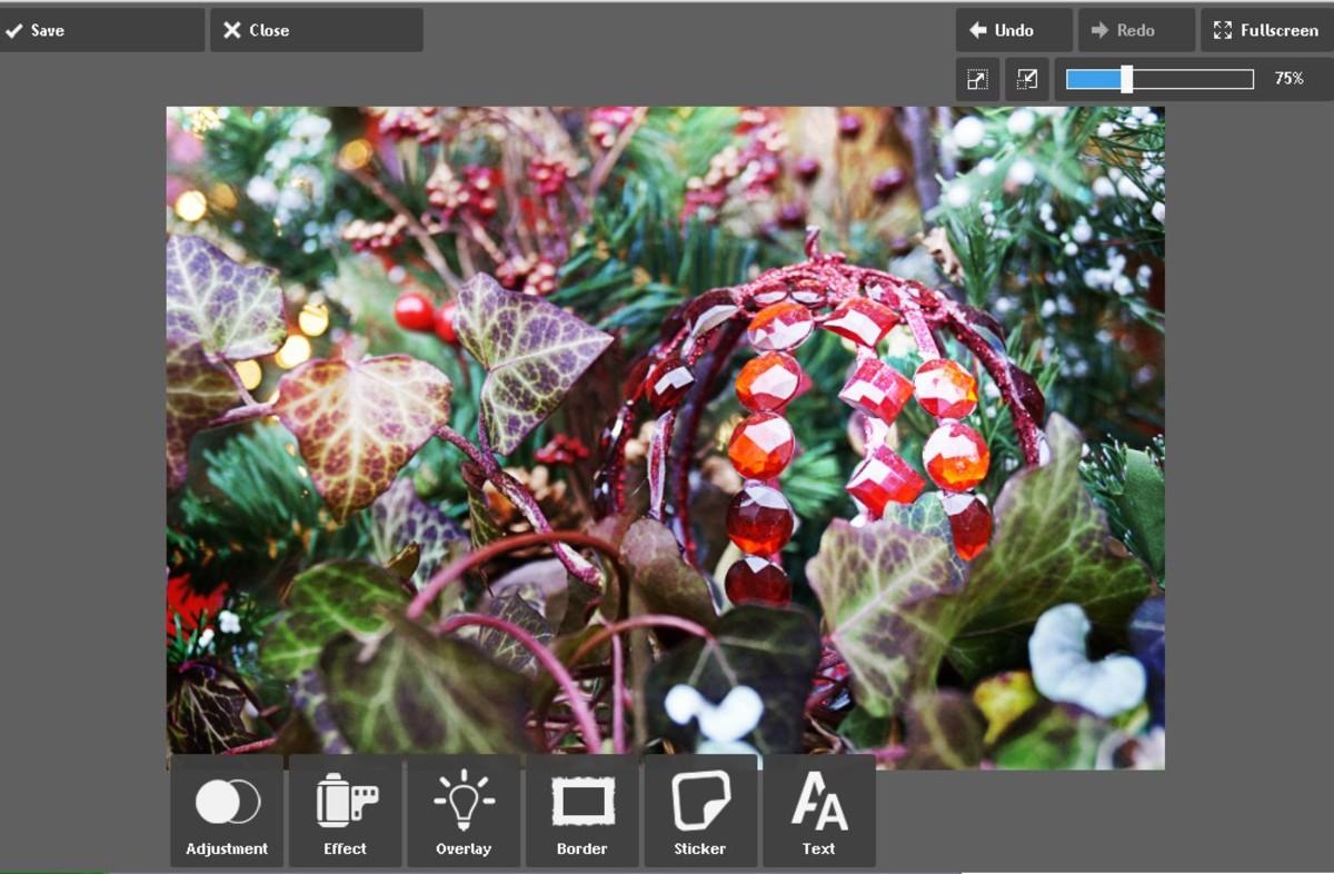 Screenshot using the tools on Pixlr.
