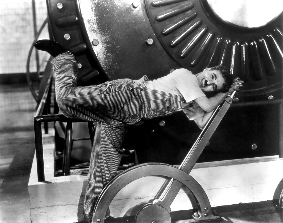 Charlie Chaplin in Modern Times.
