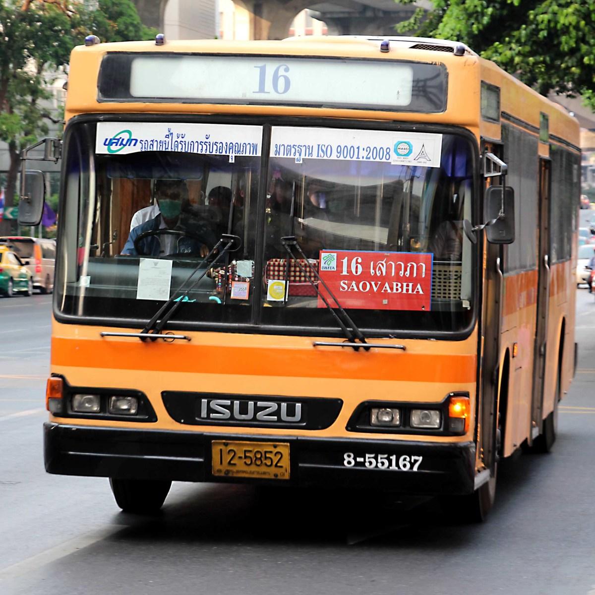 One of the Bangkok city buses