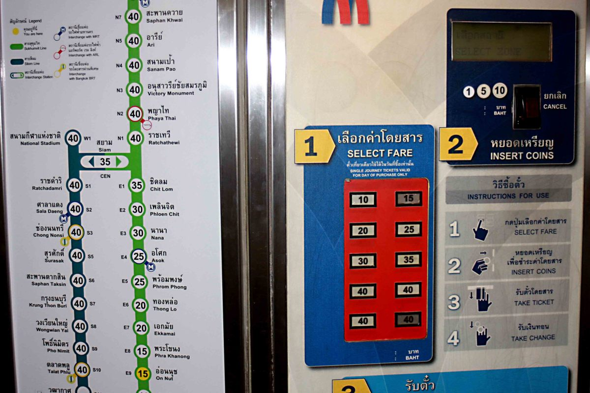 Having selected your destination and inserted your coins, an easy-to-operate machine dispenses your ticket