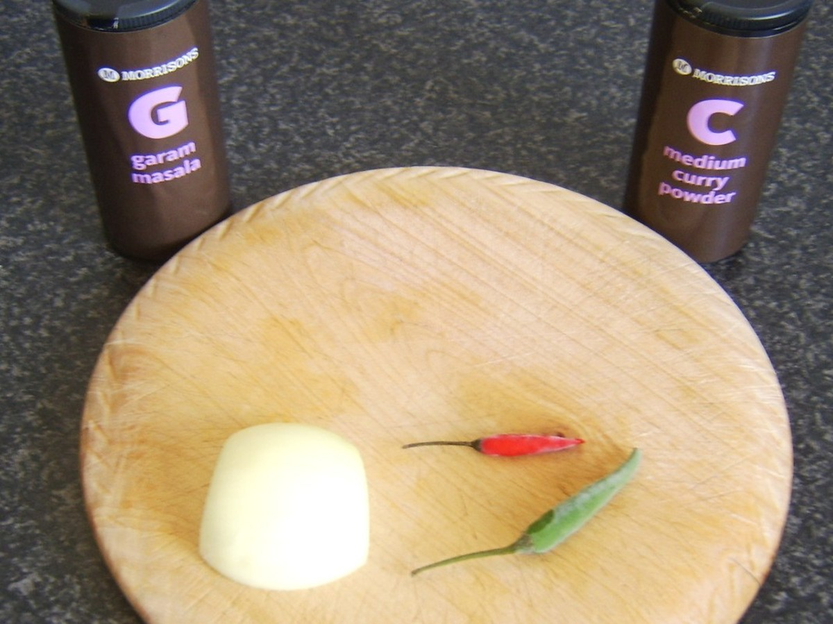 Spice ingredients for mutton curry