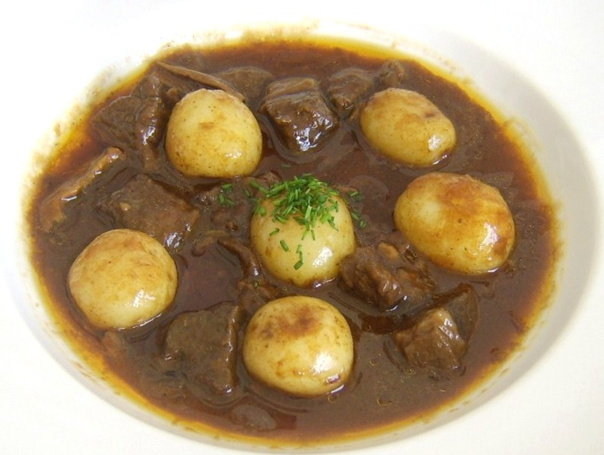 Simple mutton and potato stew