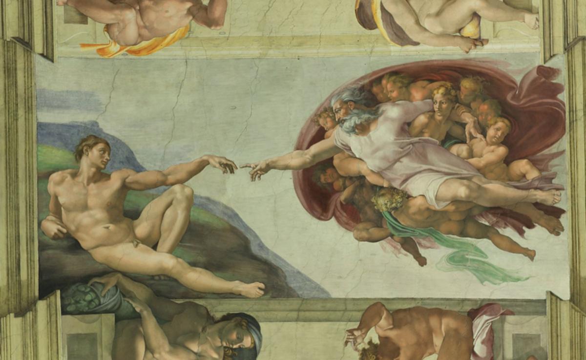 "Michelangelo's ""The Creation of Adam"""