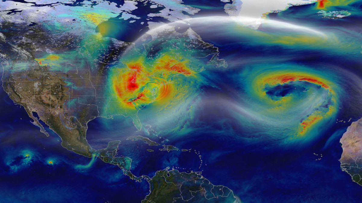 Superstorm Sandy on October 30, 2012 after landfall