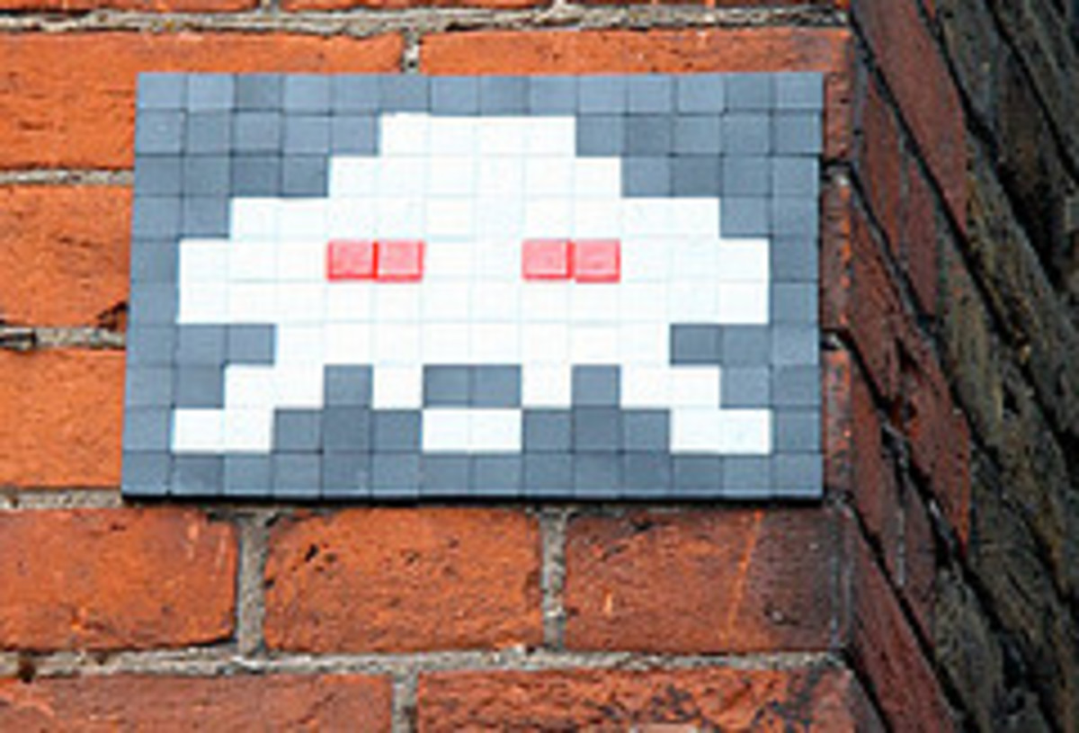 Space Invaders - Street art mosaic