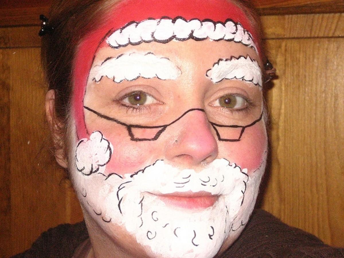 Santa Face Painting