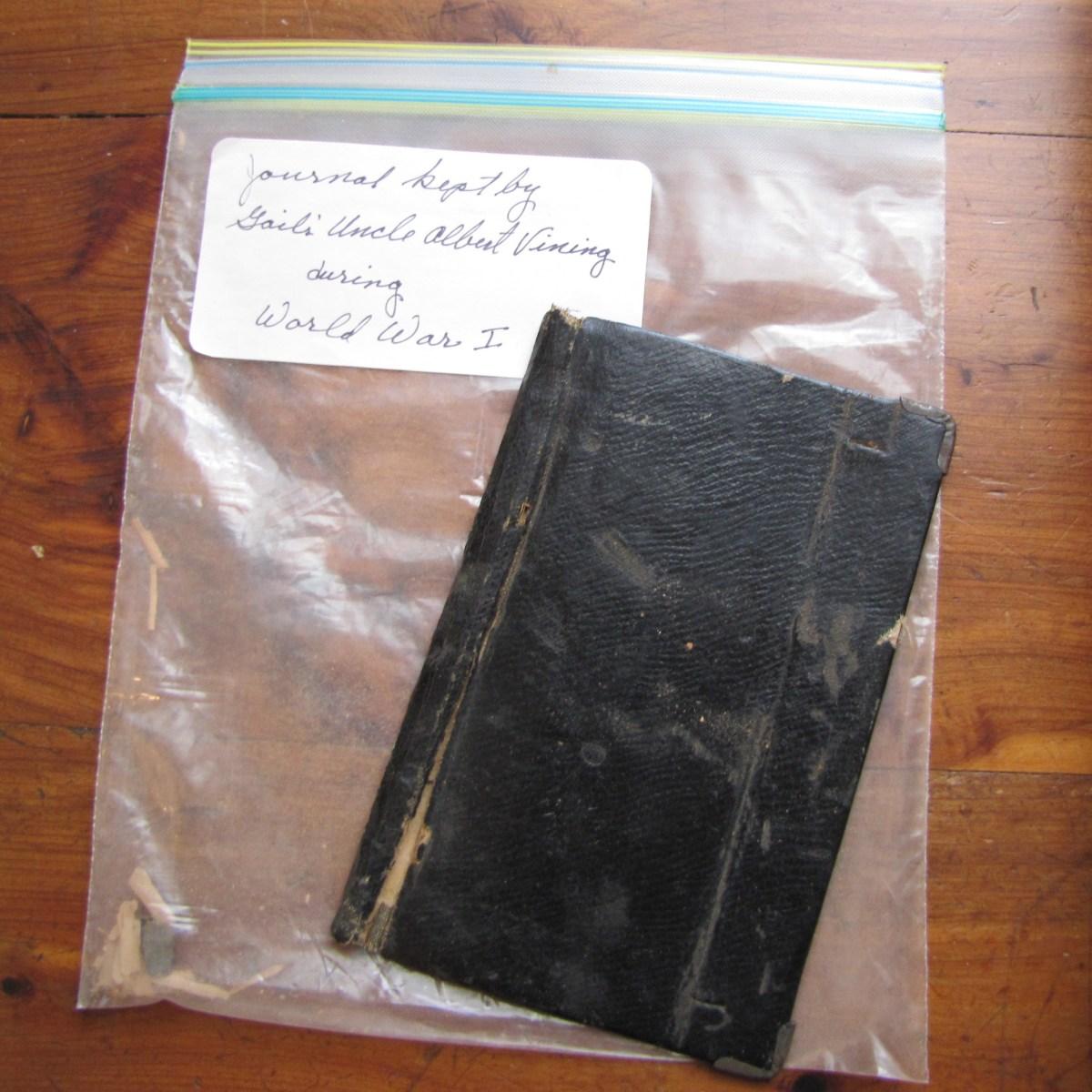 Albert Vining's pocket diary from World War I.