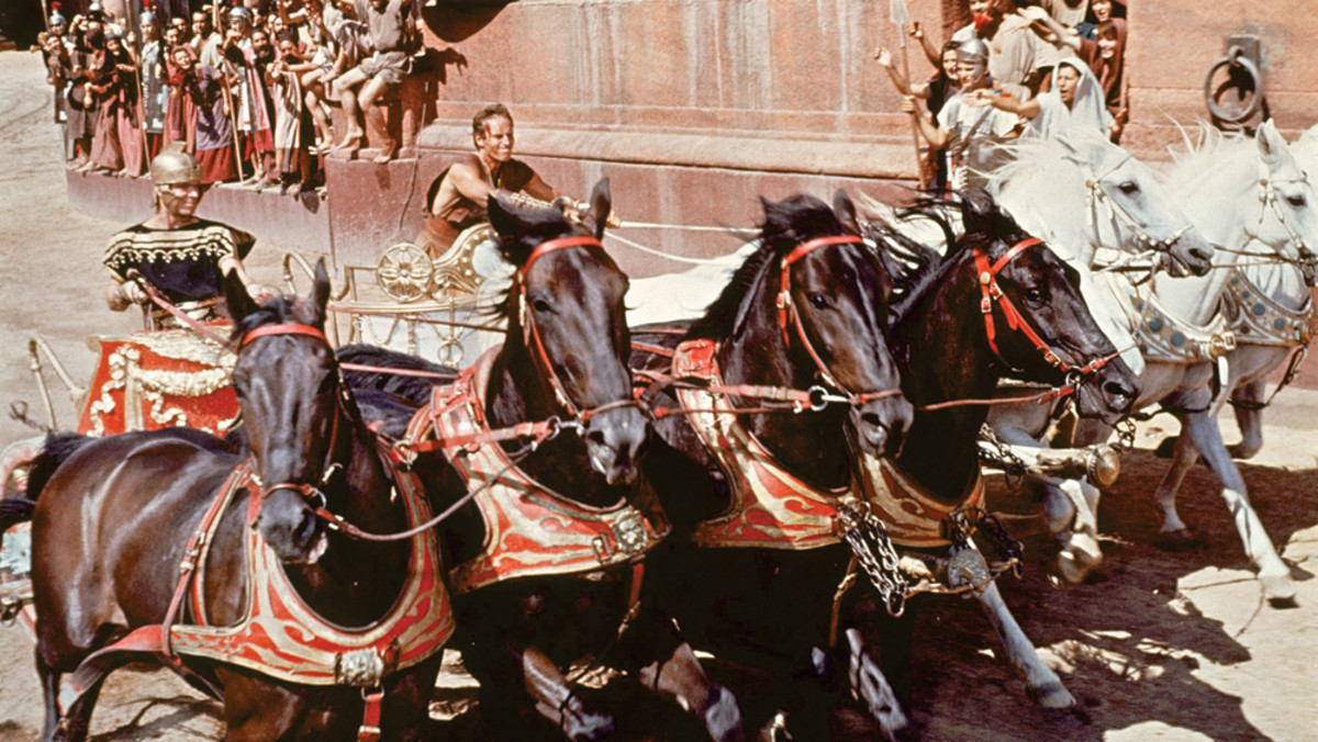 """Scene from the film """"Ben-Hur"""" with Charlton Heston in title role and Stephen Boyd as Messala"""