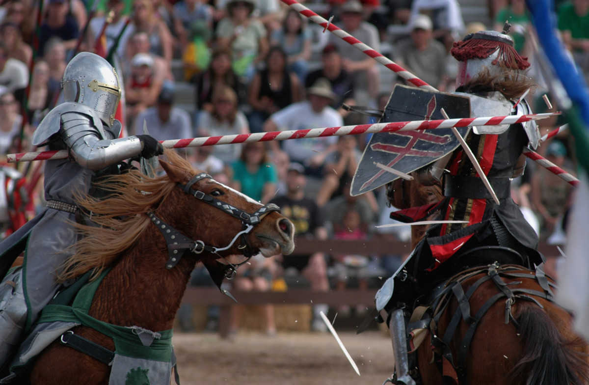 A typical joust fought with blunted lances