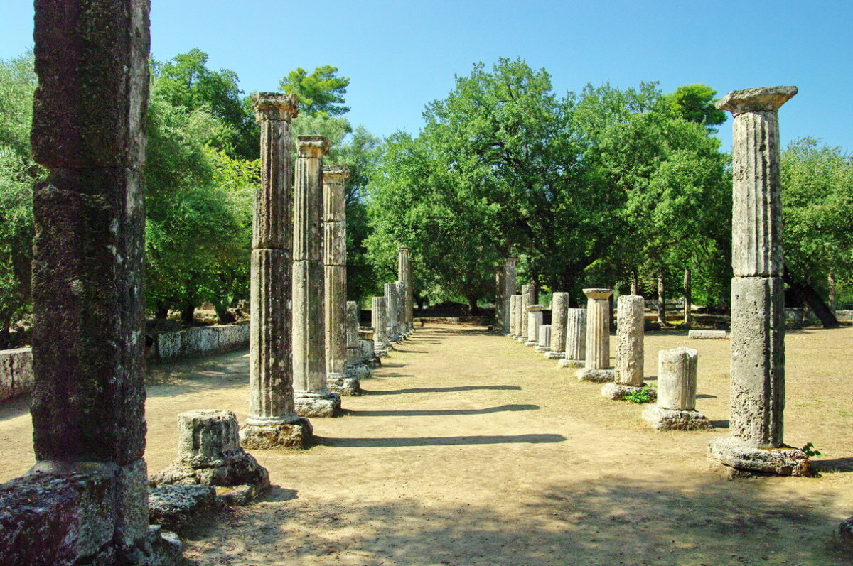 Original site of ancient Olympic Games in Greece