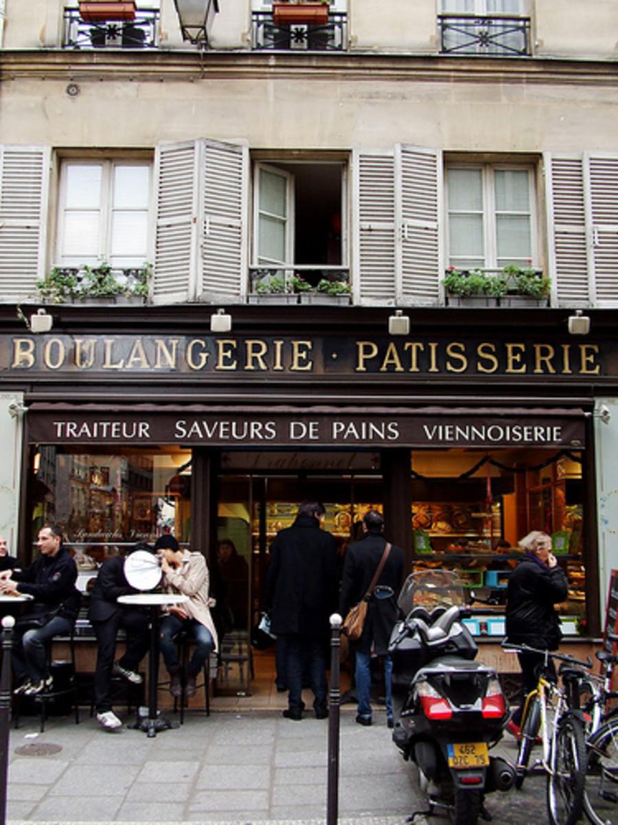 A typical Paris bakery