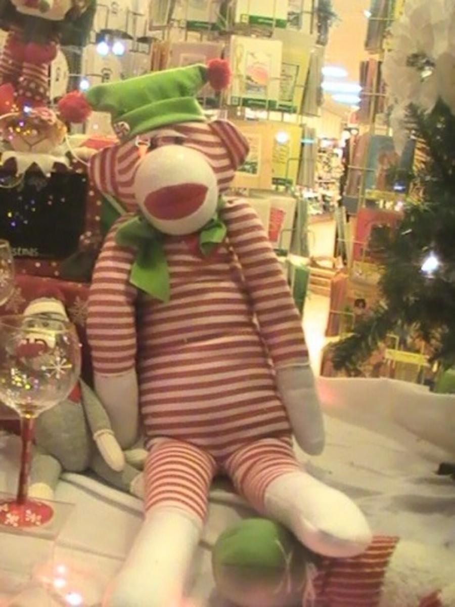 Christmas Monkey in Lake Geneva, WI photo courtesy of GmaGoldie