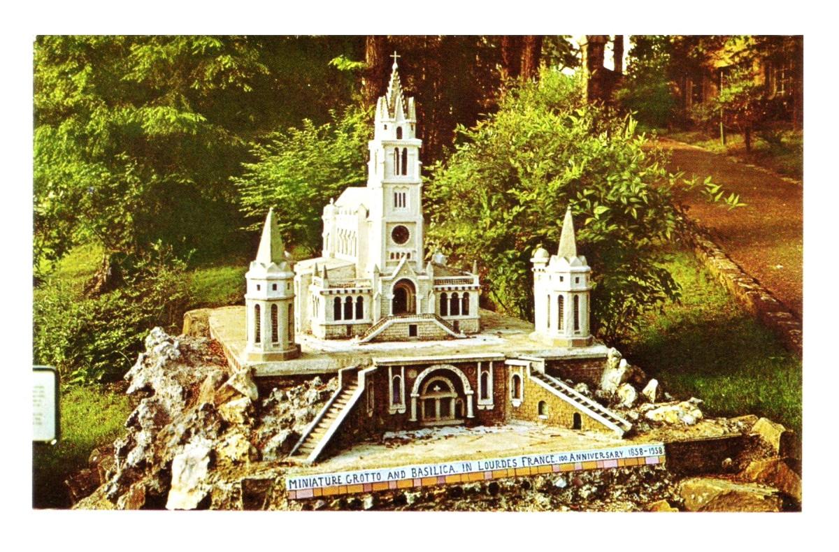 A replica of Lourdes Basilica in France