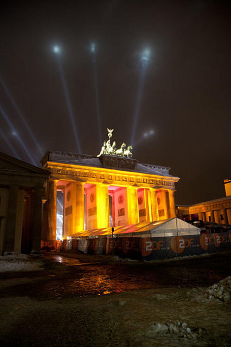 Brandenburg Gate during Silvester (New Year eve)
