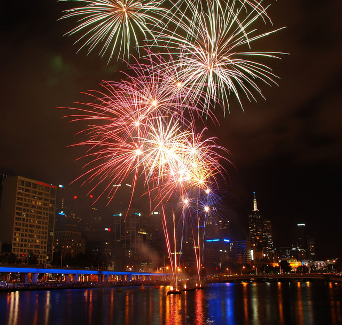 Firewoks in chinese new year