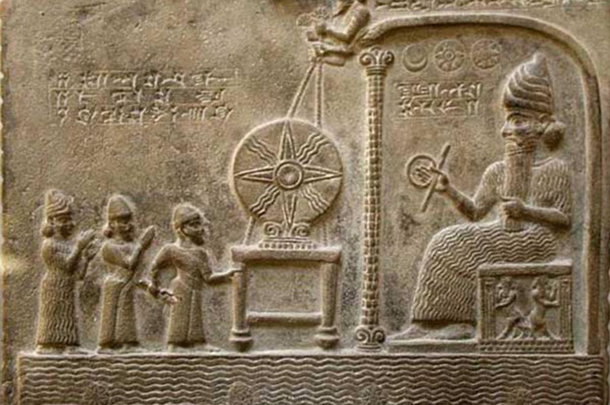 Sumerian tablet depicting one of their gods, the Annunaki