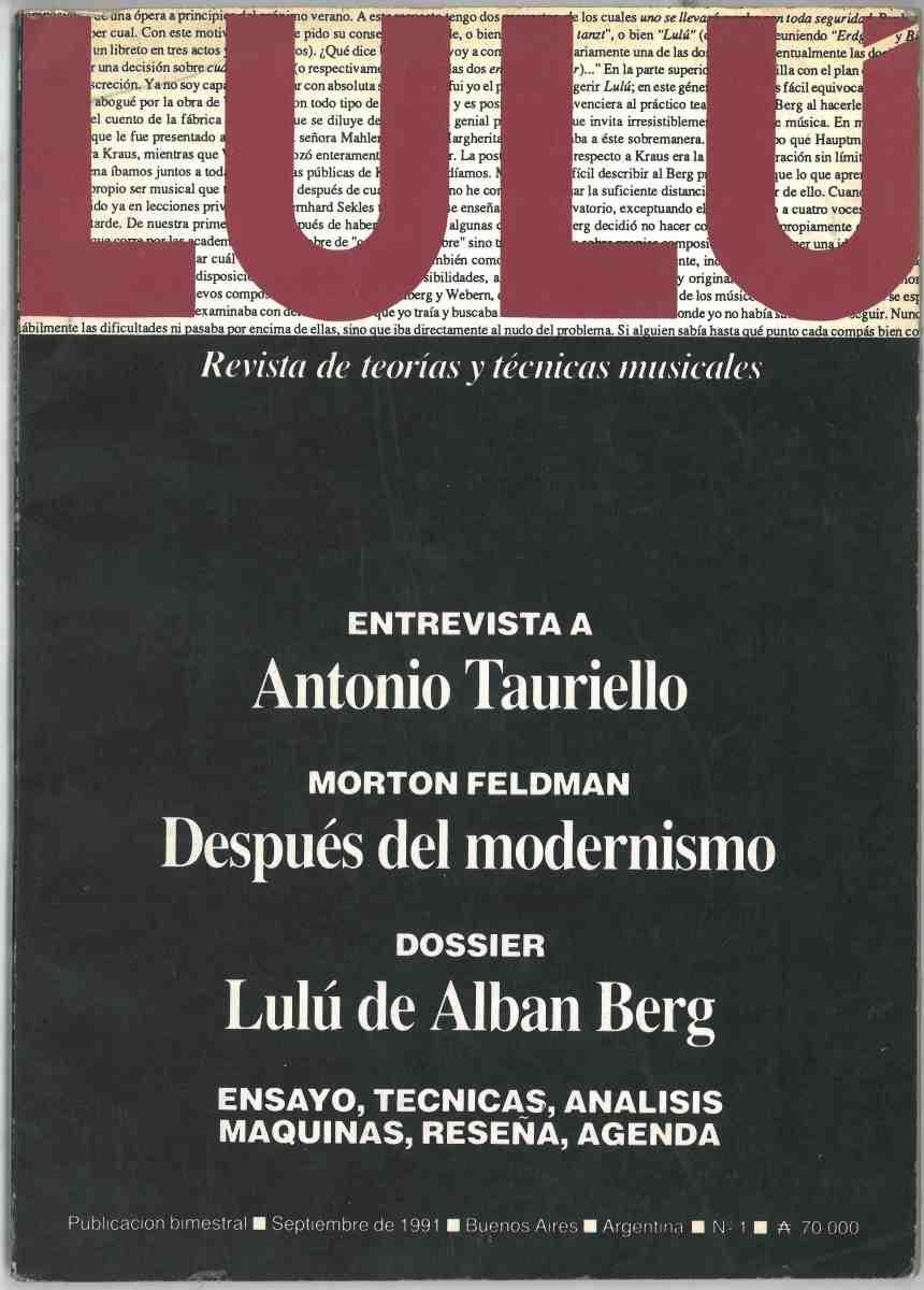 LULÚ, No. 1, 19991