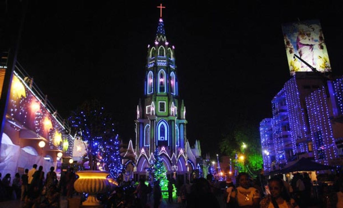 St. Mary's Basilica, Christmas Celebration in Bangalore