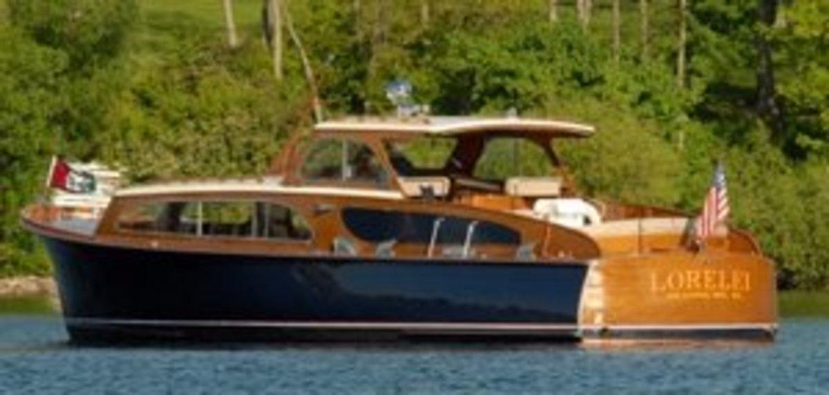 Gage Marine's Lorelei - on the beautiful waters of Geneva Lake, Wisconsin