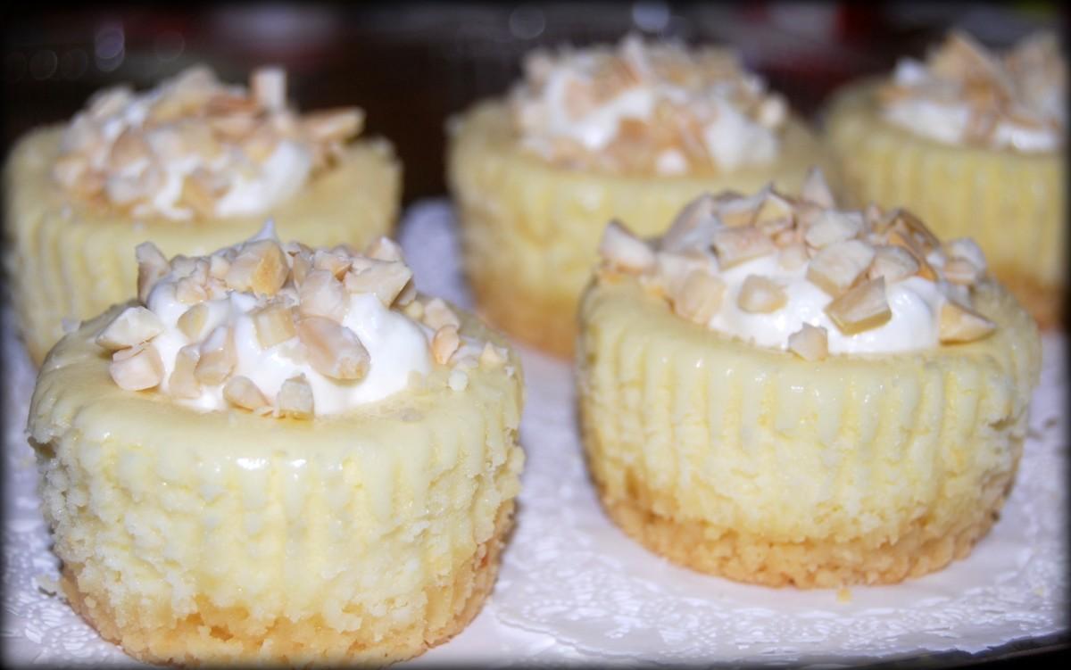 Island Bites: Amaretto Mini Cheesecakes