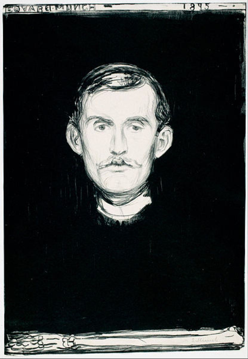 Edvard Munch Self-Portrait (1895)