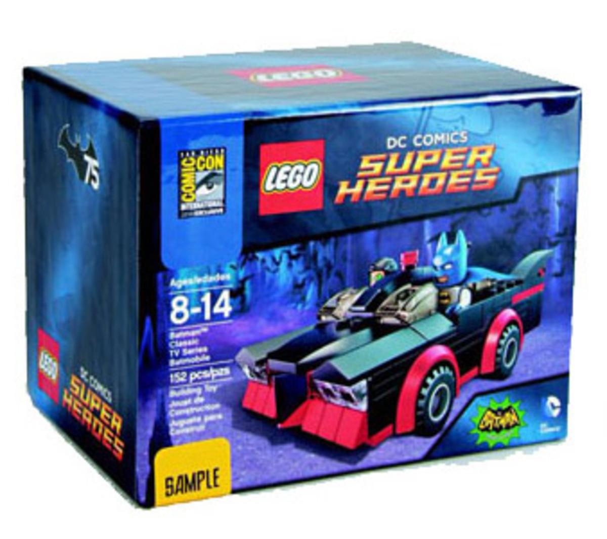 LEGO Batman Classic T.V. Series Batmobile SDCC037 Box
