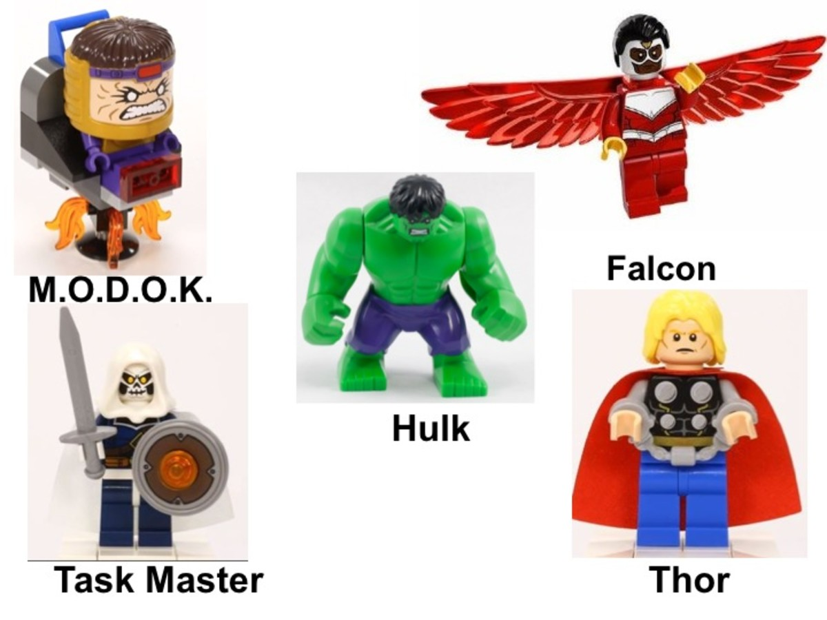 LEGO Avengers: Hulk Lab Smash 76018 Minifigures