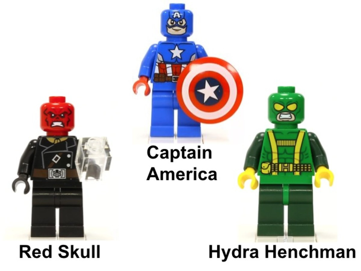 LEGO Avengers: Captain America vs. Hydra 76017 Minifigures